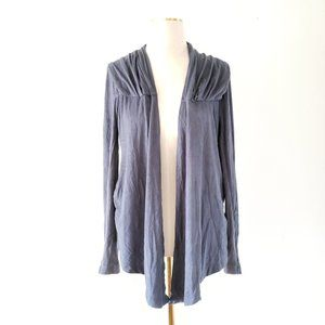 NY&CO Small Blue Faux Suede Draped Light Jacket